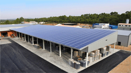B timent photovolta que pour les industriels gratuits - Hangar gratuit avec toiture photovoltaique ...