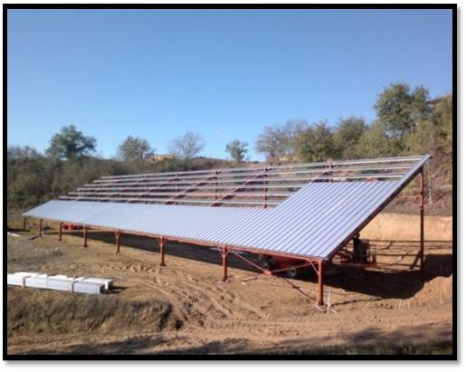 Construction b timent agricole photovolta que de 700 m 5000 m en ari ge construction de for Construction terrain agricole