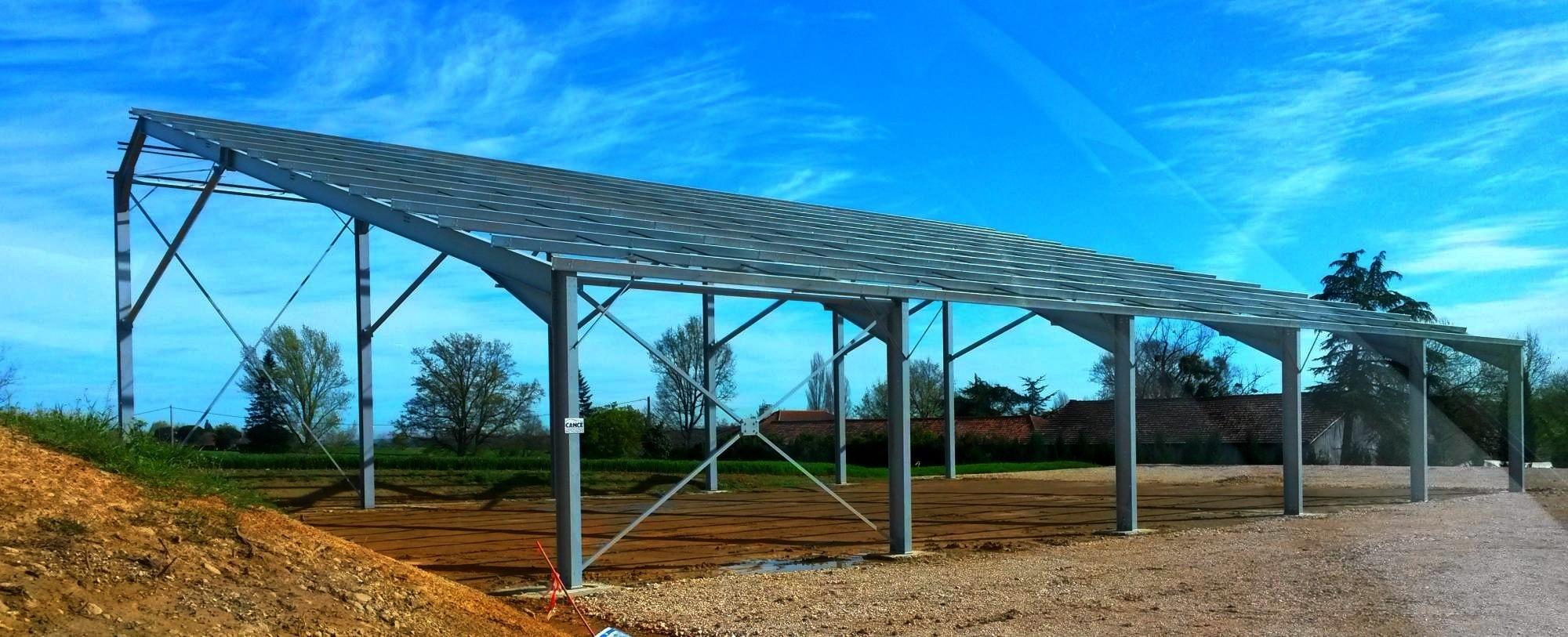 Construction de b timents photovolta ques agricoles et industriels b timent photovolta que - Hangar photovoltaique agricole gratuit ...
