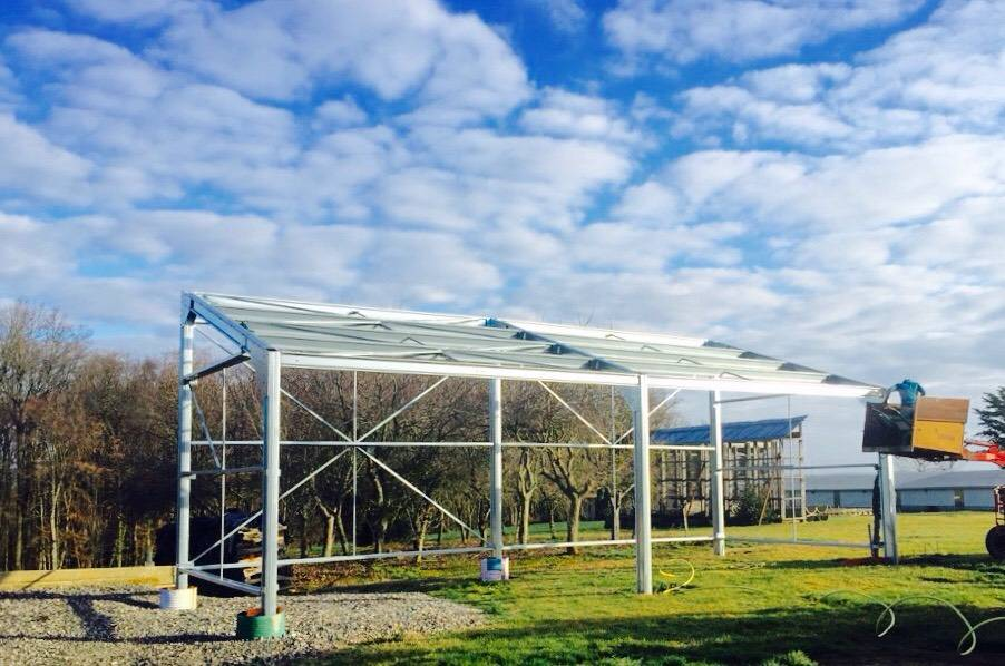 Construction b timent agricole photovolta que de 60 m for Construction agricole