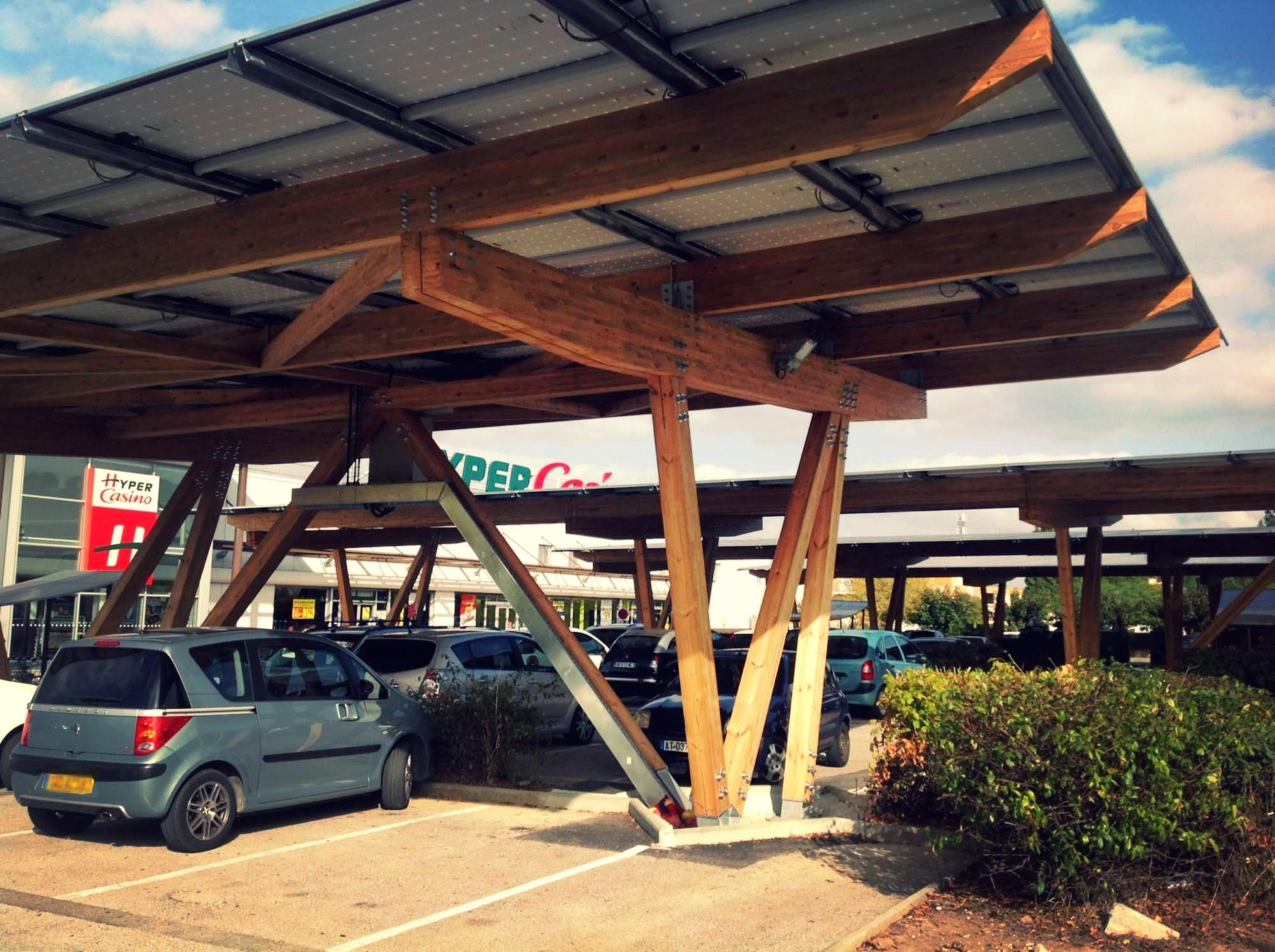Ombri re solaire de parking toulouse marseille - Hangar photovoltaique agricole gratuit ...